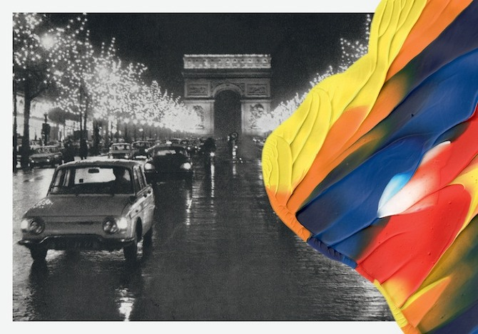 Souvenirs de Paris, Leslie David, ART, VISUAL, POSTER, THISISPAPER, MAGAZINE