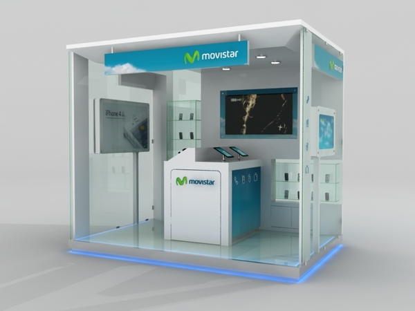 Stand movistar javierdiaz for Oficinas movistar