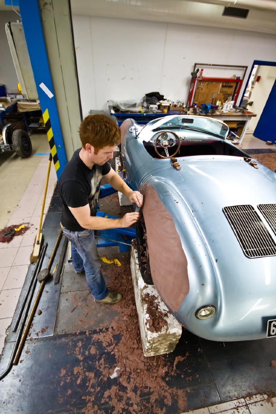 1955 porsche 550 spyder replica wbk alan derosier design - Porsche Spyder Replica Kit